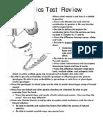 Genetics Test Review 2012