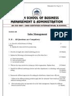 Question Paper Sales Management