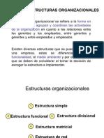 Tipos de Estructuras Organizacional (Disney)