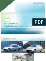 Prius c Technical Presentation