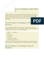 Research Papers on Language