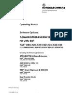 RohdeSchwarz CMU200 Software Options Manual