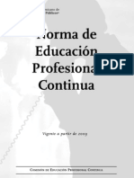 Norma de Educación Profesional Continua 2009