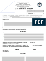 ACTA DE REUNIÓN DE ACADEMIA