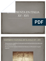 1. La Imprenta en Italia Ss. XV-XVI