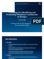 Ivan Boyer and Steven Strausbauch- A Strategy for Identifying and Evaluating Munitions Constituents on Ranges
