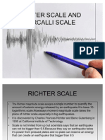 Richter Scale and Mercalli Scale