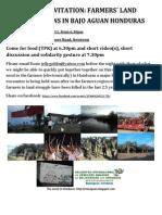 Invitation Solidarity Honduras Farmers