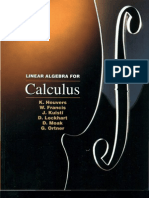 Linear Algebra for Calculus by K,Heuvers