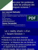 Salvador & Fernandes (2004) Les Guidances Parent Ales Dans La Pratique Des Psy Sco