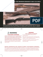 Instruction Manual for Magnum Research's MLR-1722 Rifle