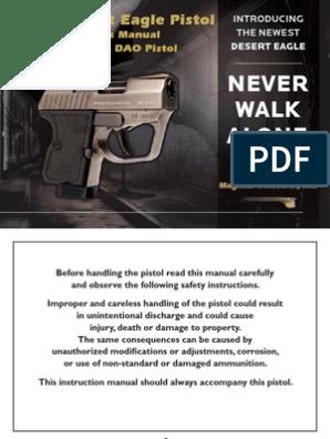 Micro Desert Eagle Pistol Owner's Manual  380 Auto DAO Pistol