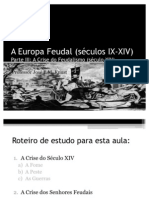 3 - A Europa Feudal (Parte 3)