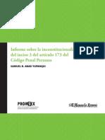 Informe sobre la inconstitucionalidad del inciso 3 del artículo 173 del Código Penal Peruano