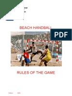 10 - Beach Handball Regeln