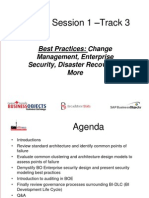 Best Practices - Change Management, Enterprise Security, Disaster Recovery & More