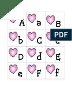 Valentine ABC Flash Cards