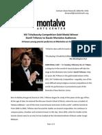 XIV Tchaikovsky Competition Winner Daniil Trifonov to Dazzle Montalvo Audiences