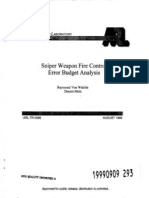 Raymond Von Wahlde and Dennis Metz- Sniper Weapon Fire Control Error Budget Analysis