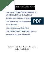 Como Optimizar Windows 7