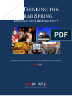 Rethinking the Arab Spring - A Road Map for G20-UN Support - Geopolicity - October 2011