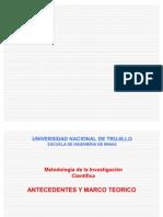 03 Antecedentes y Amarco Teorico2009