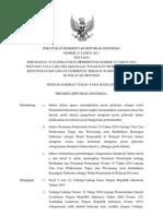 Peraturan Pemerintah No. 23 Tahun 2011-Ttg Perubahan PP No 19 Tahun 2010