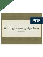 abcds of writing objecvtives