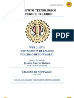 CALIDAD DE SOFTWARE WEB QUEST