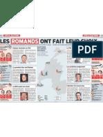 Le Matin, 24.10.11 - résultats des romands