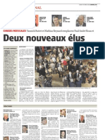 Le Nouvelliste, 24.10.11 - résultats des élections fédérales 2011
