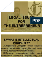 Legal Issues for the Entreprenuer