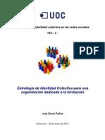 Estrategia de Identidad Colectiva para una organización dedicada a la formación