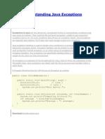 Understanding Java Exceptions