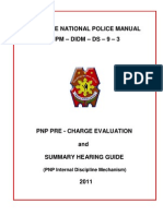 PNP Pre-Charge Evaluation and Summary Hearing Guide