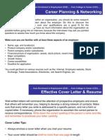 Sample of Cover Letter & Resume