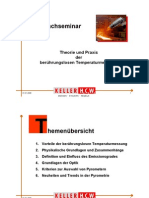 Theorie und Praxis der berührungslosen Tmeperaturmessung