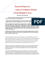 Research Report on Market Leader in Toothpaste Brands