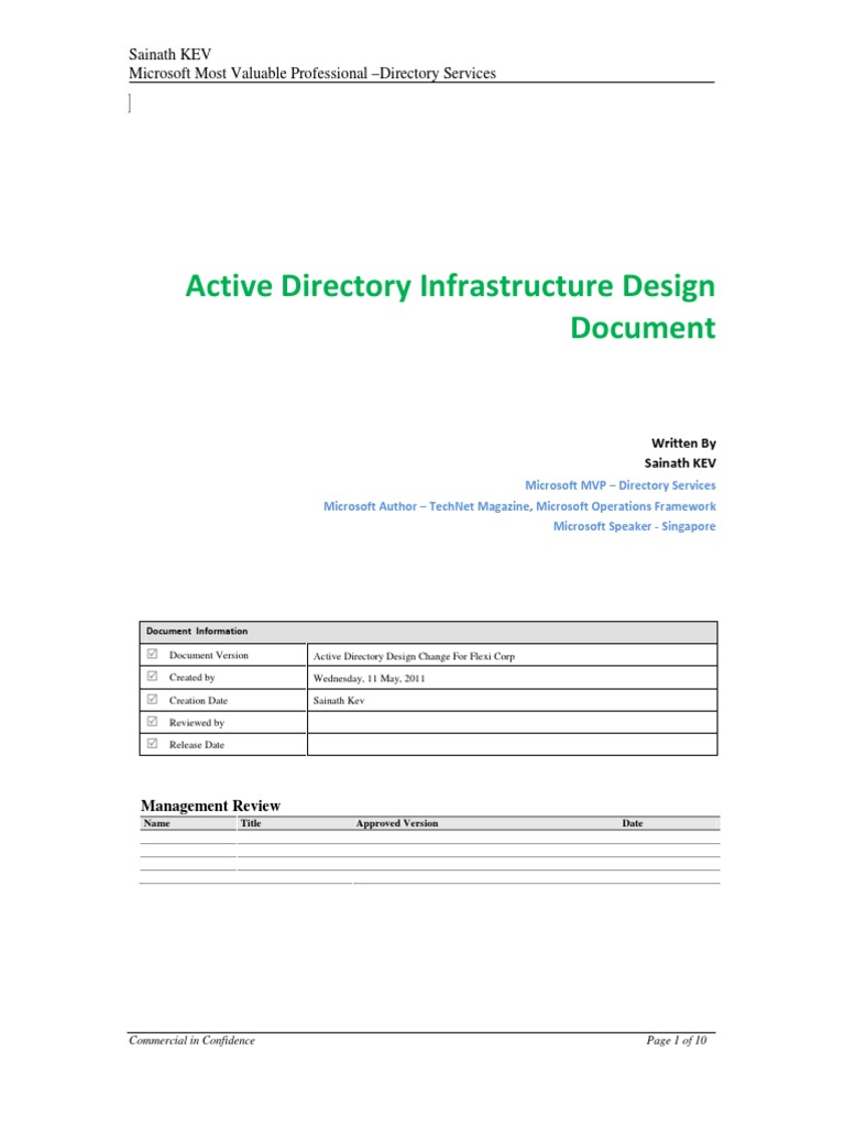 Active Directory Design Doent Template | Active Directory Design Template Active Network Map Creator