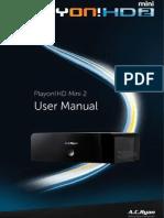 English PV73800 Manual