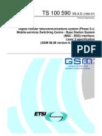 0808 640 MSC BSS Interface