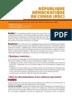 Instruments de protection des droits des femmes ratifiés par la RDC