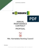 AMC Agreement-Karnataka Nursing Council