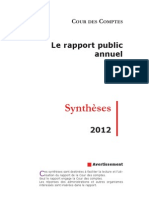 Synthese Rapport Public Annuel 2012