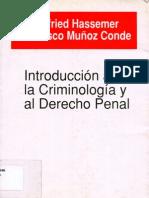 Introduccion a la criminologia y al derecho penal, Muñoz Conde e Hassemer (1989)