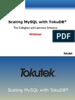 Scaling MySQL With TokuDB Webinar