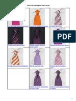 Choisissez La Couleur Pour Votre Cravate