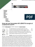 How Can Carriers Make 40% EBIDTA Margin at 2 Cents_min Tariff_ _ Telecom Circle