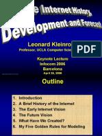 Leonard Kleinrock INFOCOM06 Keynote