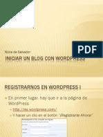 Iniciar Blog Wordpress